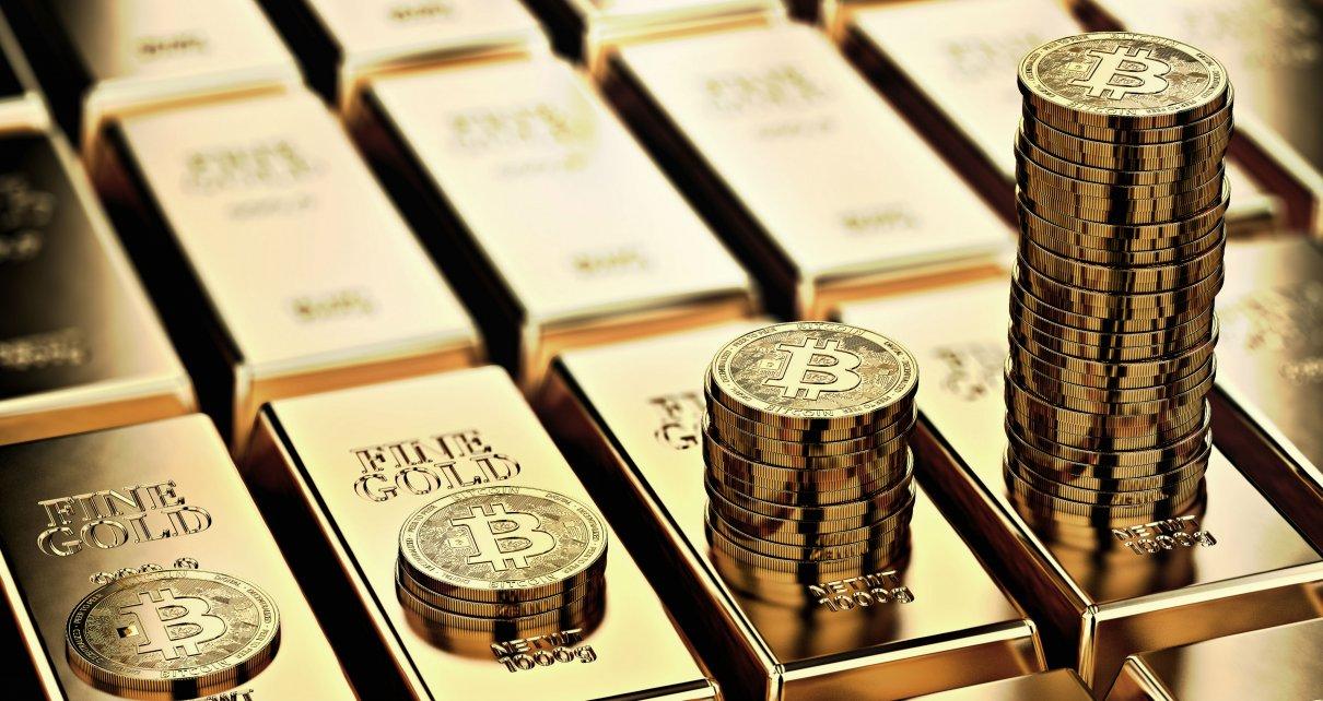 биткоин и золото, bitcoin BTC vs gold